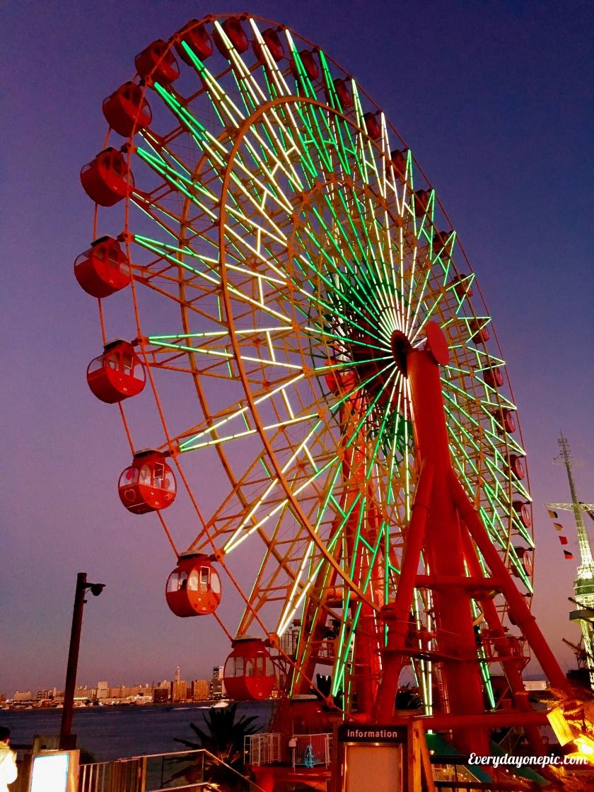 La Grande Roue du port de Kobe au Japon est majestueuse