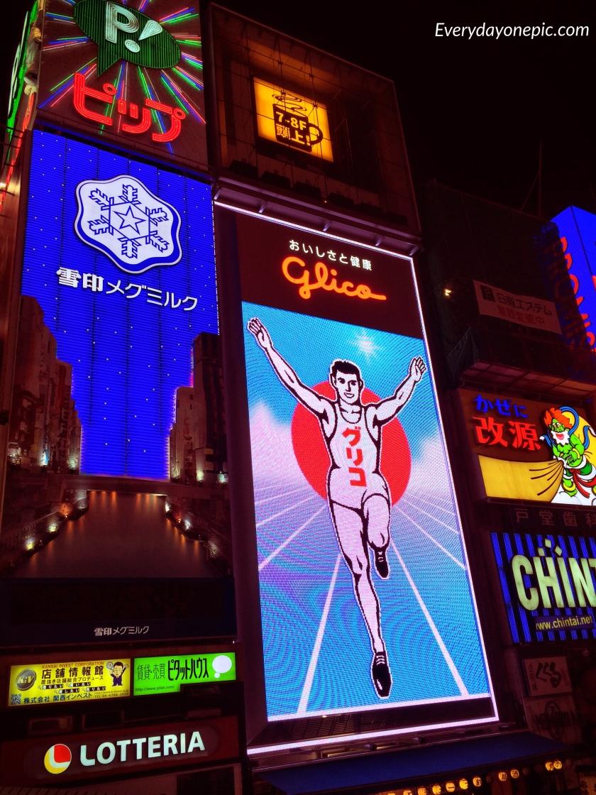 L'enseigne lumineuse la plus reconnaissable d'Osaka