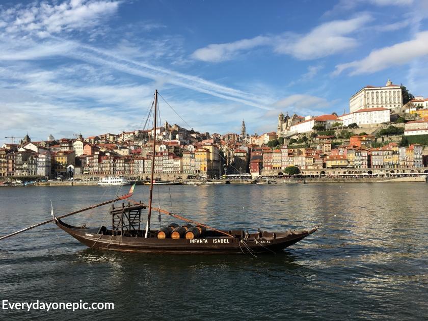 Sur les bords du Douro en face de la vieille ville