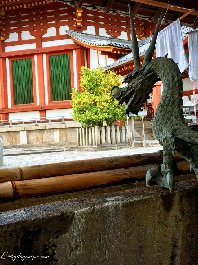 Qui saura retrouver la fontaine aux dragons de Nara ?