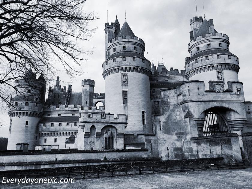 Le superbe château de Pierrefonds en hiver